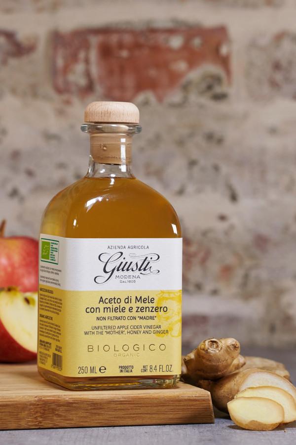 ACETO DI MELE con miele e zenzero 250 ml_fb022