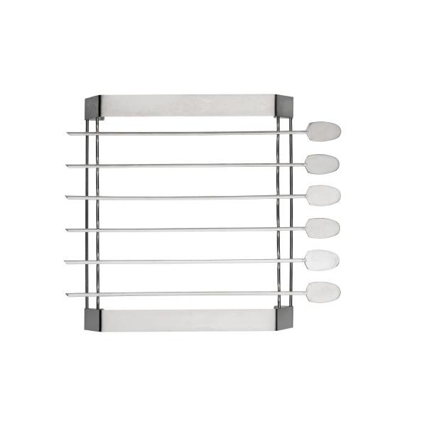 BBQ SKEWERS ROTISSERIE 6 PCS (31.5 CM) + RACK_b3adb