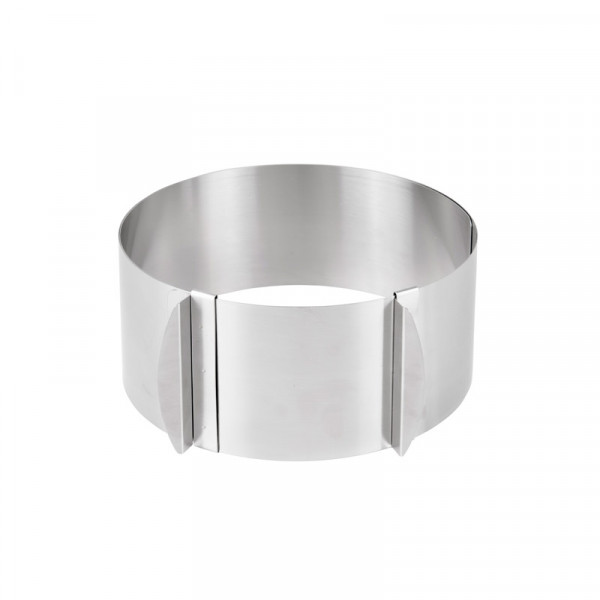 ADJUSTABLE CAKE RING Ø 18-30 CM, STEEL_a3184
