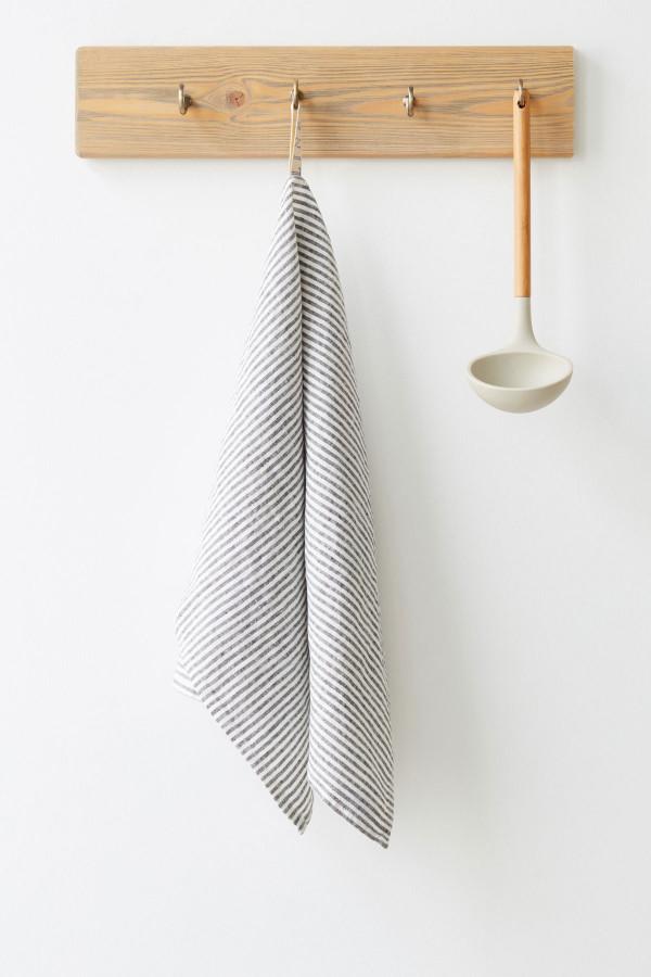 KITCHEN TOWEL, black stripes_00319