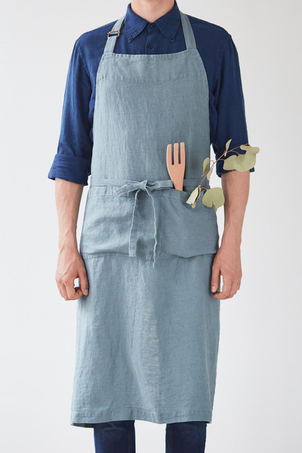 CHEF APRON, Blue Fog_4275e