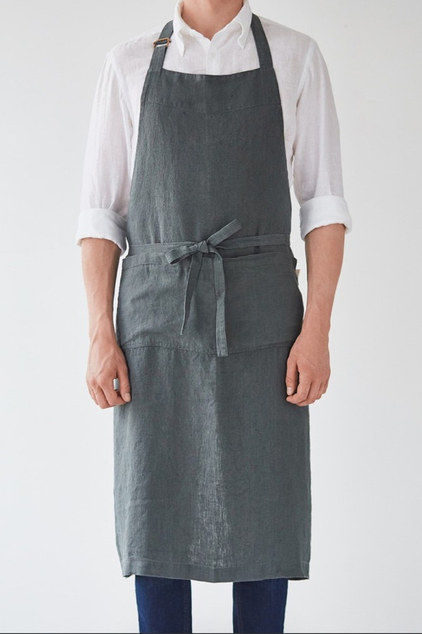 CHEF APRON, forest green_19c18