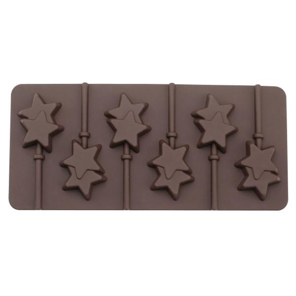 CAKE POP MOLD STAR SHAPED WITH STICKS (12 PCS) SILICONE_e3e65