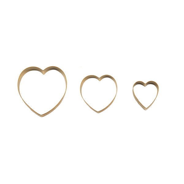 Cookie Cutter Set Heart Gold_6eb33