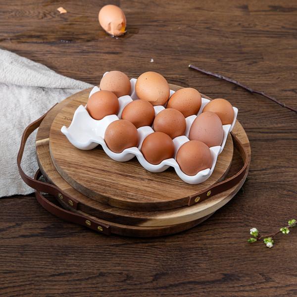 EGG SERVING PLATE FOR 12 EGGS PORCELAIN_af37e