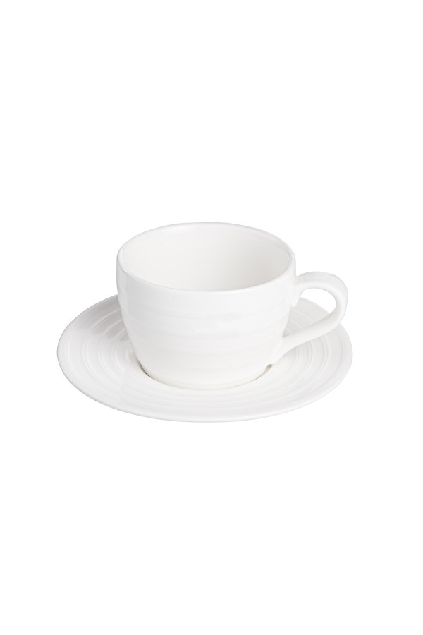CAPUCCINO CUP AND SAUCER 2 DL FIRST_b7731