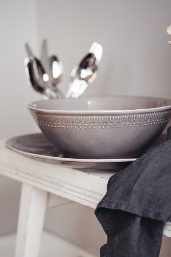 SERVING DISH 39 X 29 CM ETNICO DOVE GRAY_f4072