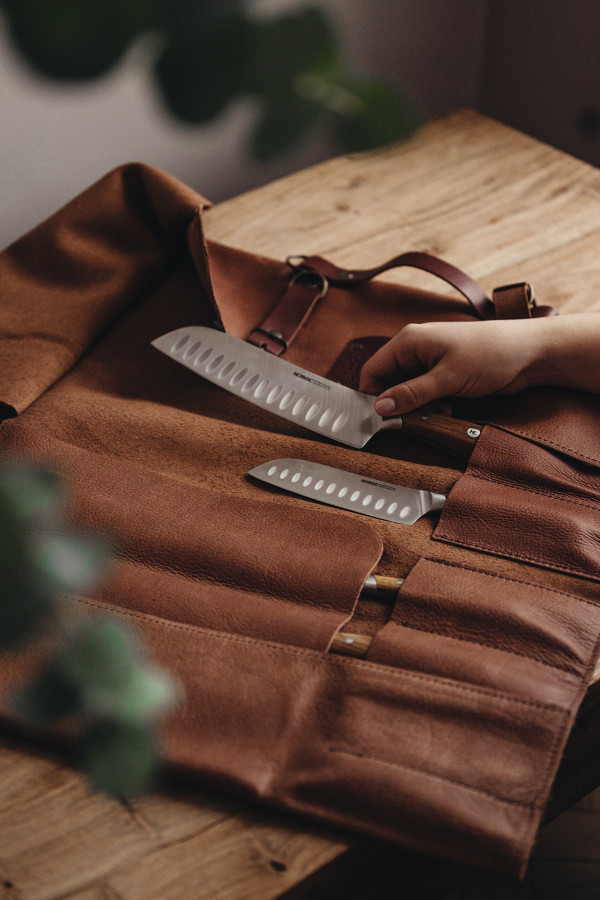 KNIFE ROLL BAG, LEATHER_ae601