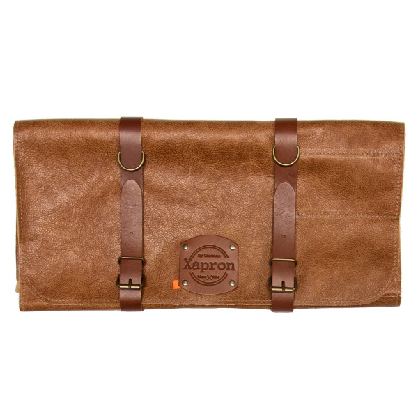 KNIFE ROLL BAG, leather brown_