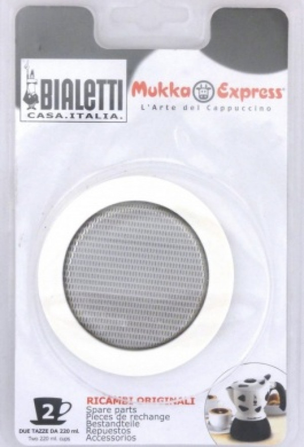Gasket and filter / Bialetti Mukka Express 2 cups_23bec