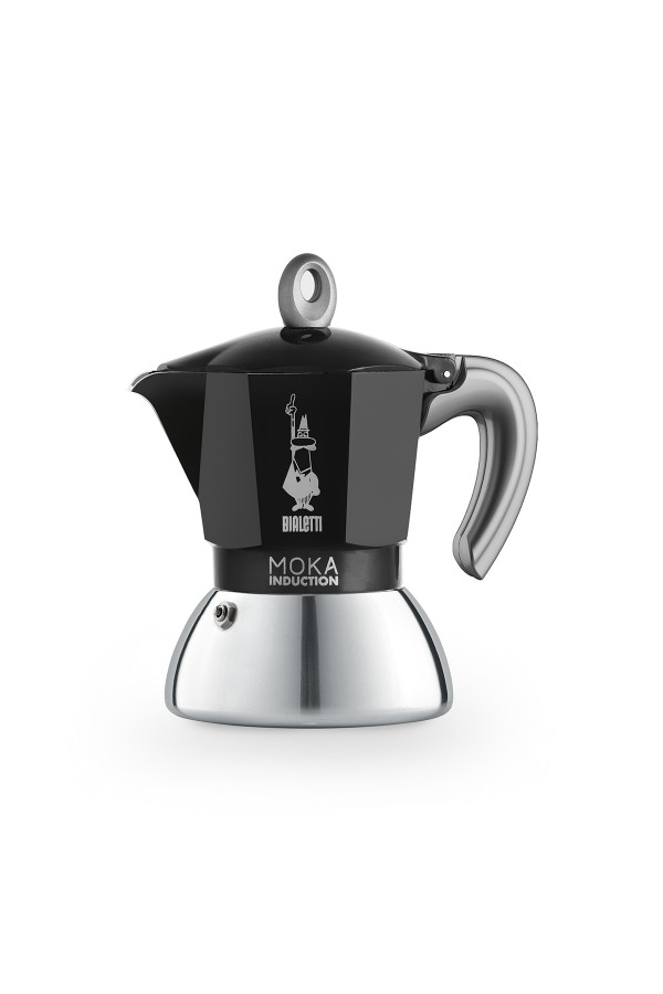 ESPRESSOKEITIN 2 k. Moka Induction Black, Uusi_e149f