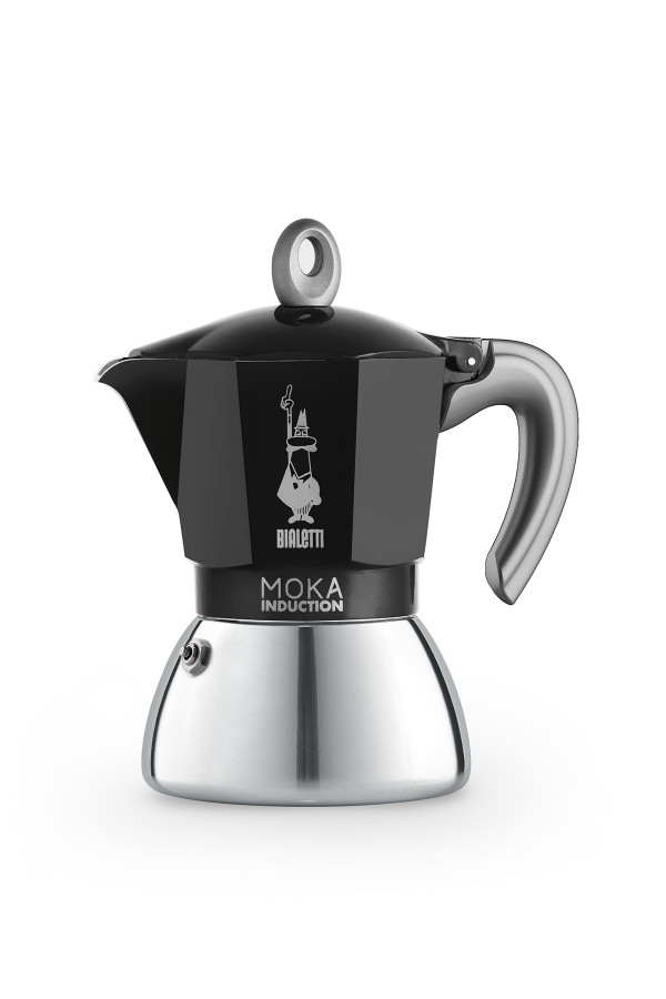 ESPRESSOKEITIN 6 k. Moka Induction Black, uusi_65531