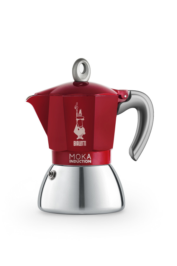 ESPRESSOKEITIN 6 k. Moka Induction Red, uusi_afe89