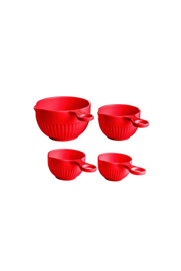 MEASURING CUP SET (RED) 4PCS (60ml, 80ml, 120ml, 240ml)_472f5