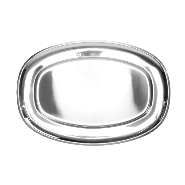 SERVING TRAY 52x37cm, STAINLESS STEEL_6678c