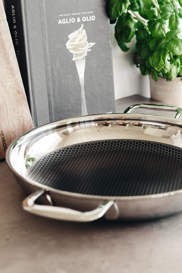 SERVING-/ FRYING PAN 28 CM STEELSAFE Pro_a84a8