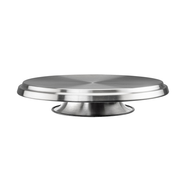 CAKE STAND 32CM ROTATING S/S_8eb09